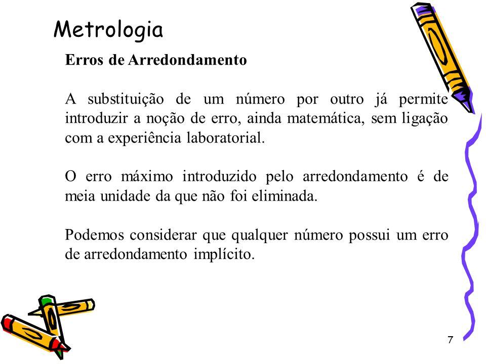 Metrologia Erros de Arredondamento