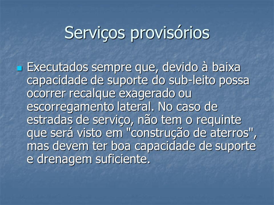 Serviços provisórios