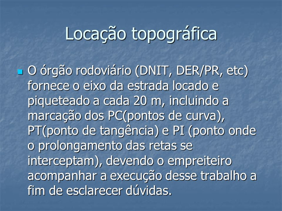 Locação topográfica