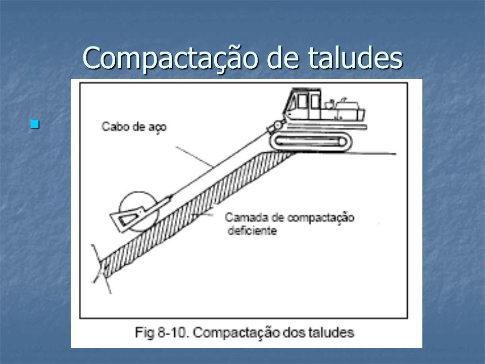 Compactação de taludes