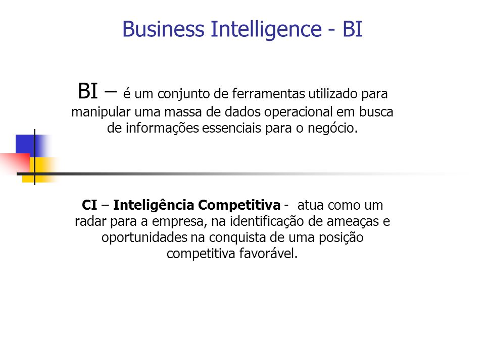Business Intelligence - BI