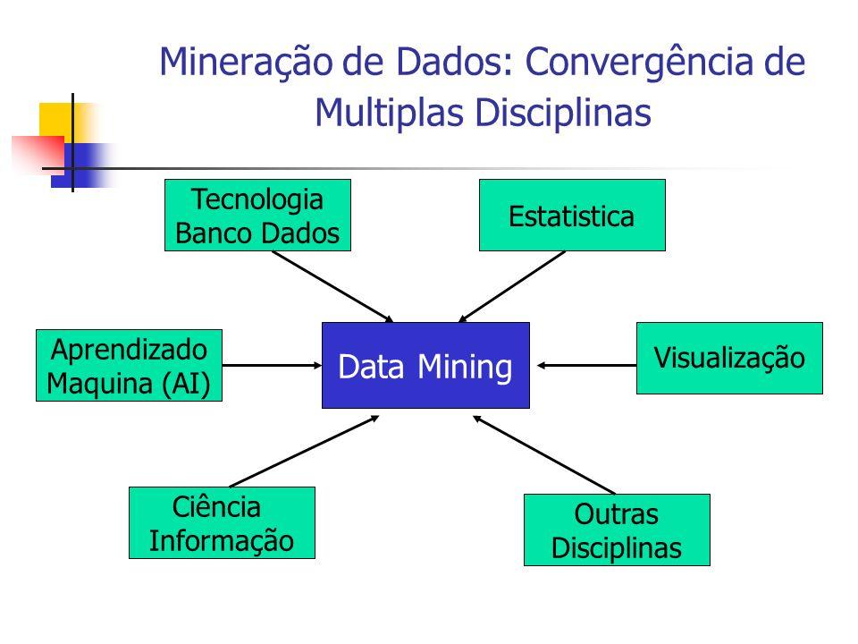 Mineração de Dados: Convergência de Multiplas Disciplinas