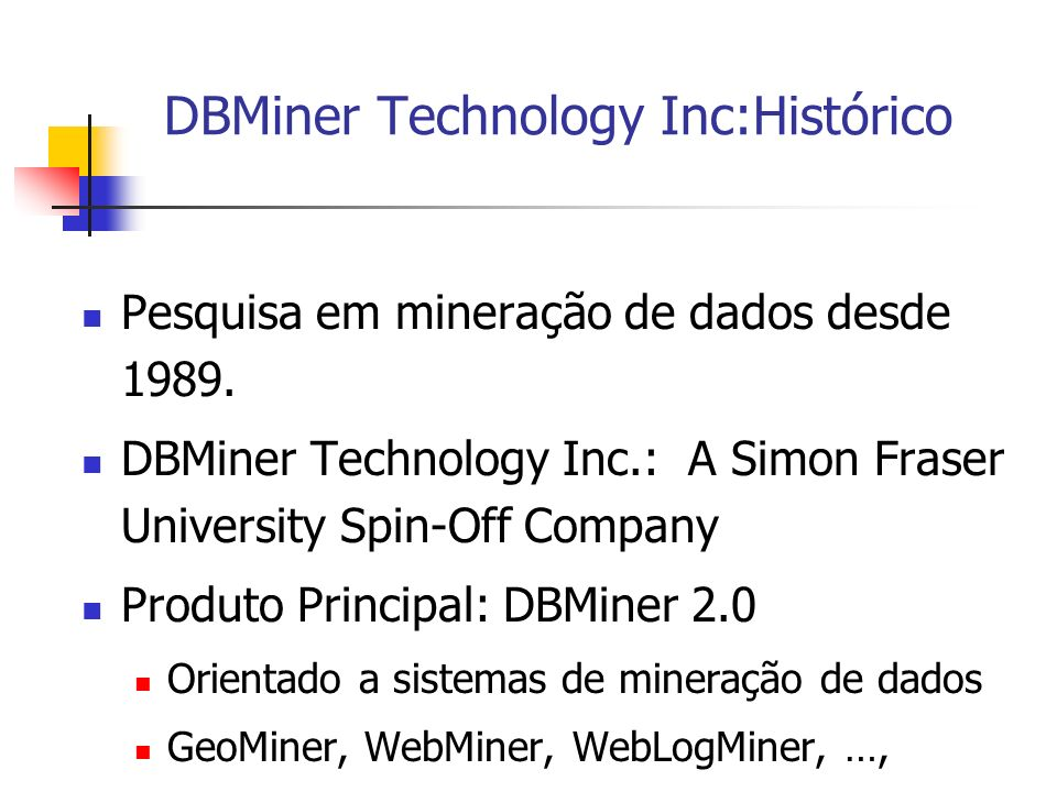 DBMiner Technology Inc:Histórico