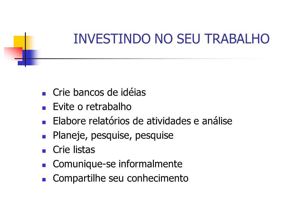 INVESTINDO NO SEU TRABALHO