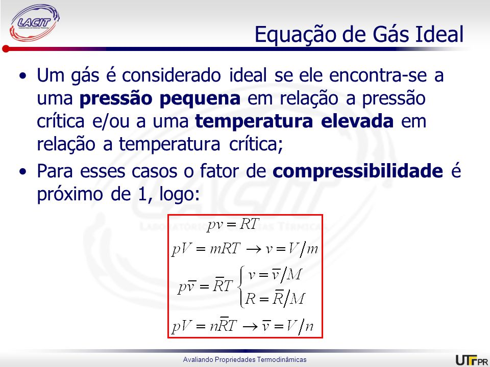 Equação de Gás Ideal