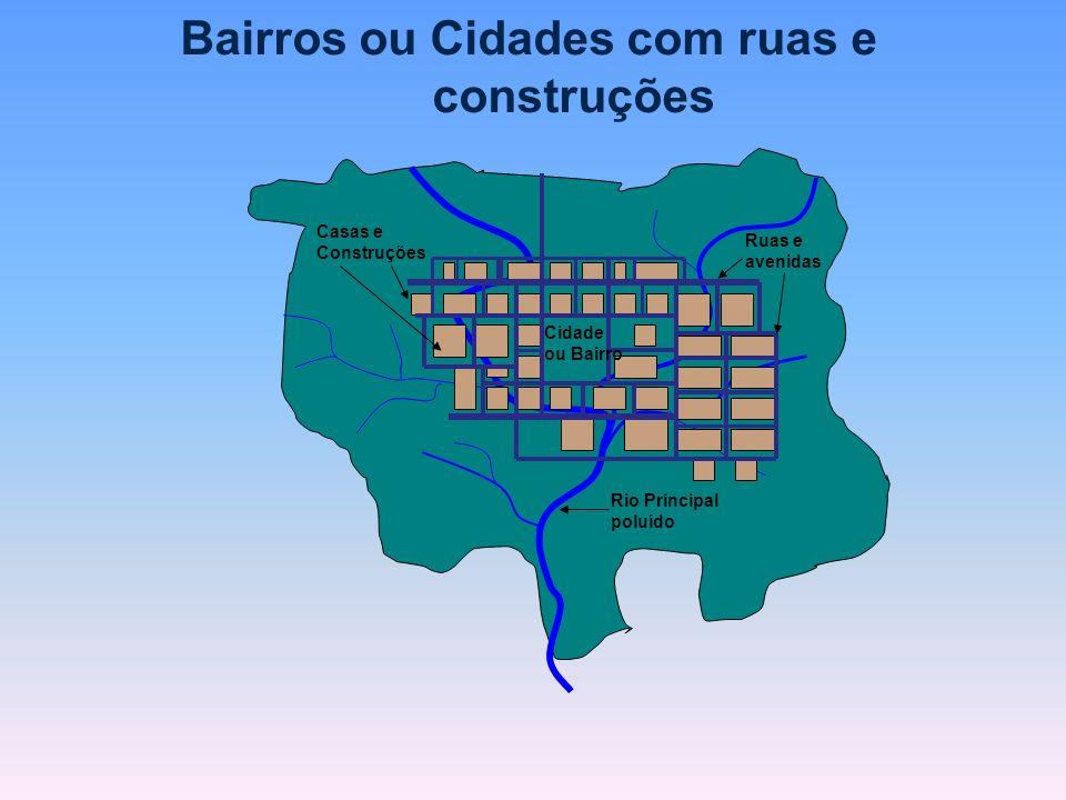 Bairros ou Cidades com ruas e construções