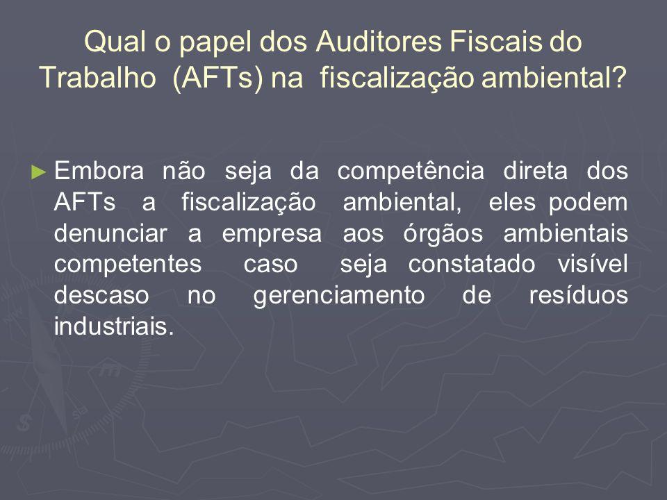 Qual o papel dos Auditores Fiscais do Trabalho (AFTs) na fiscalização ambiental