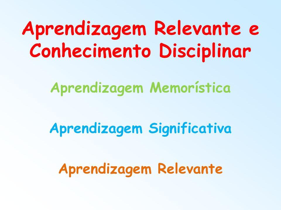 Aprendizagem Relevante e Conhecimento Disciplinar