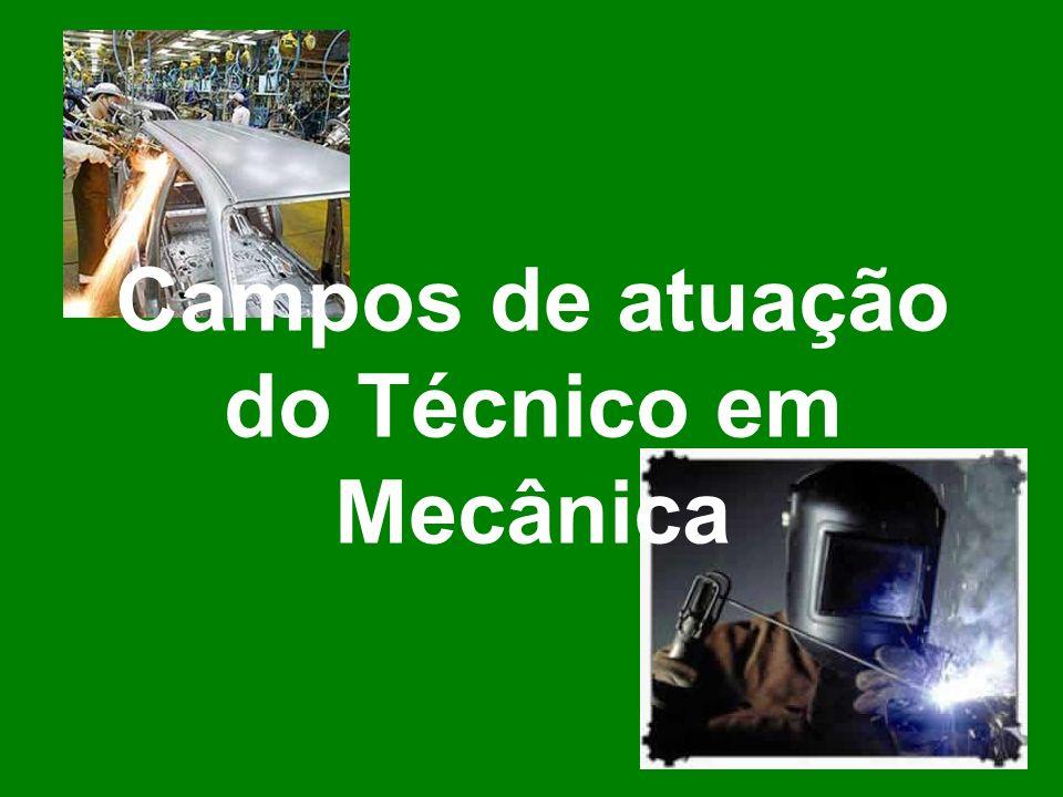 Campos de atuação do Técnico em Mecânica