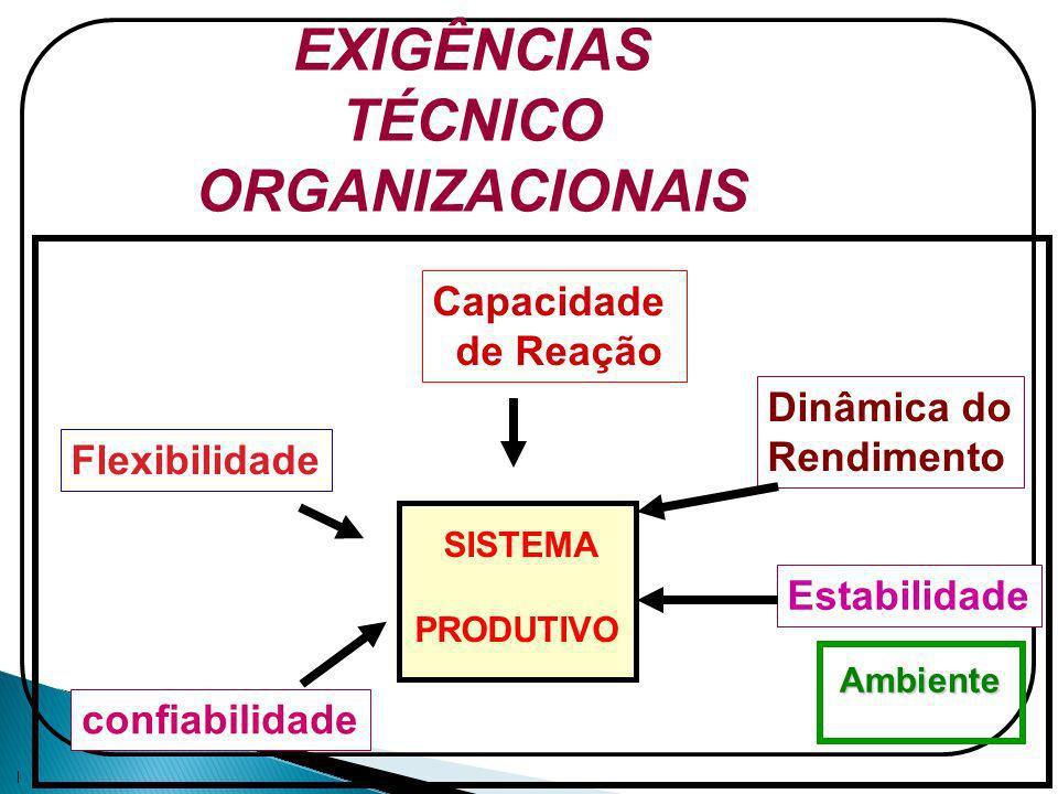 EXIGÊNCIAS TÉCNICO ORGANIZACIONAIS