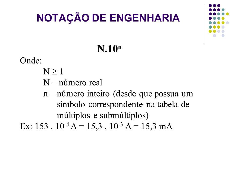 NOTAÇÃO DE ENGENHARIA N.10n Onde: N  1 N – número real