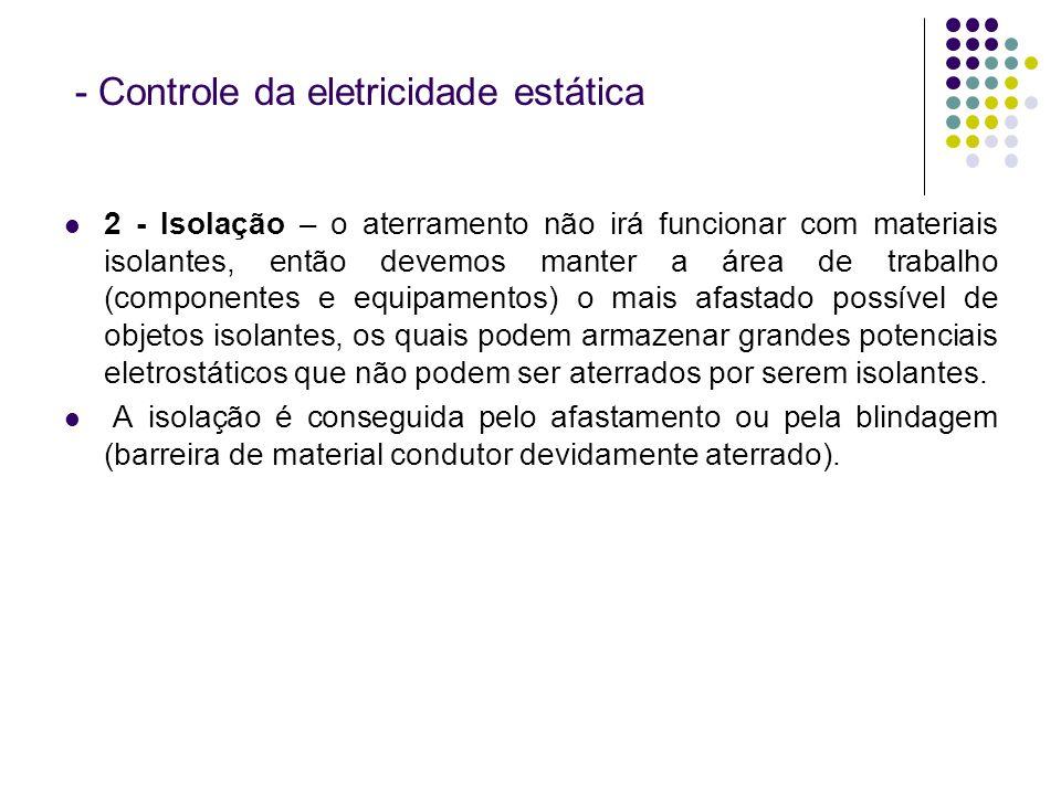 - Controle da eletricidade estática