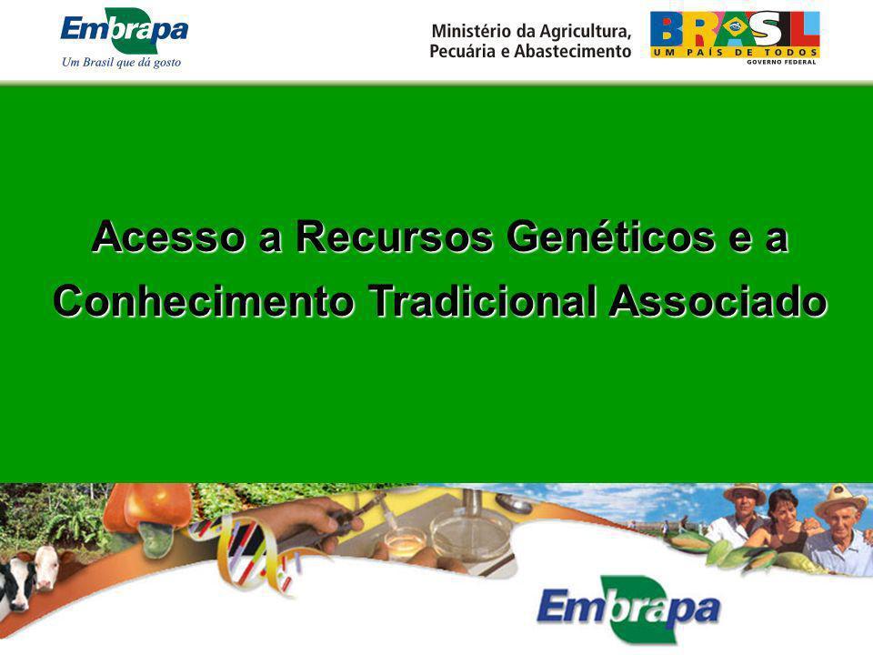 Acesso a Recursos Genéticos e a Conhecimento Tradicional Associado