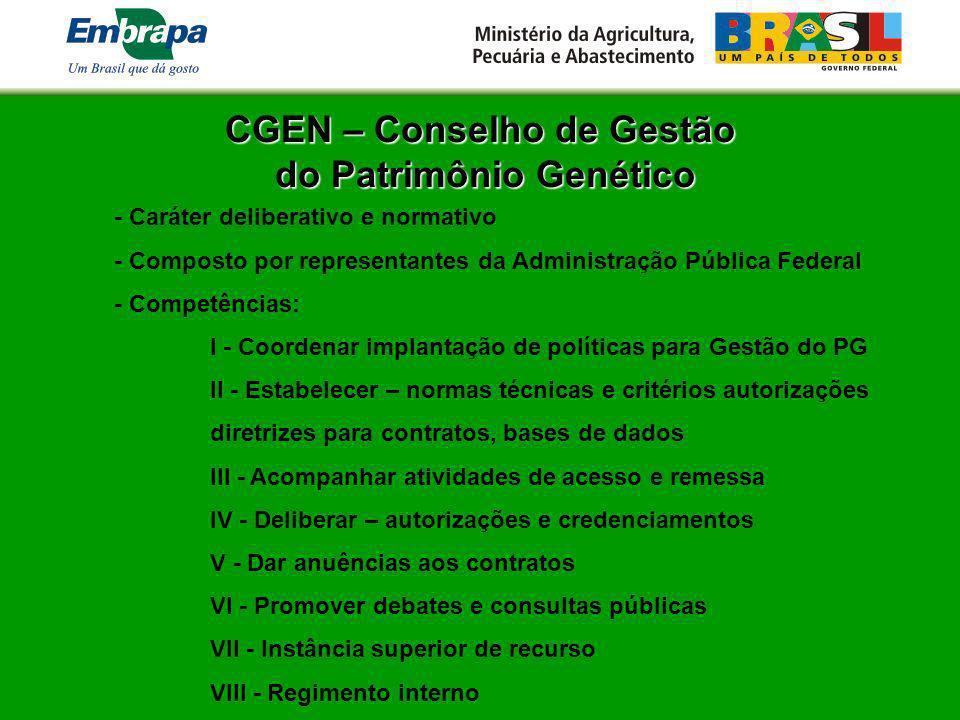 CGEN – Conselho de Gestão do Patrimônio Genético