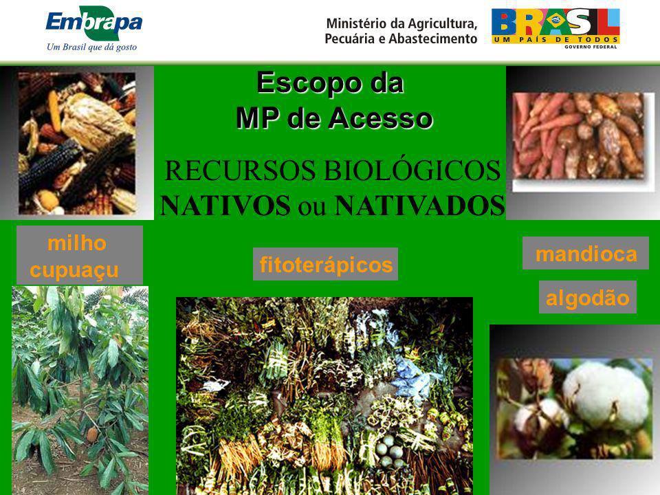 RECURSOS BIOLÓGICOS NATIVOS ou NATIVADOS