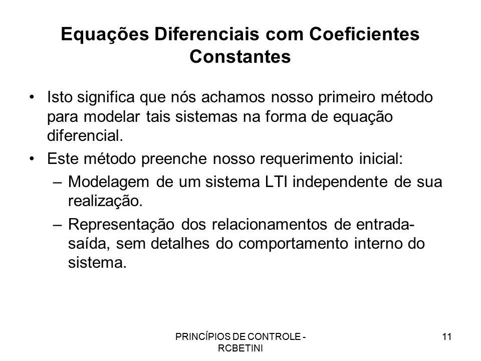 Equações Diferenciais com Coeficientes Constantes