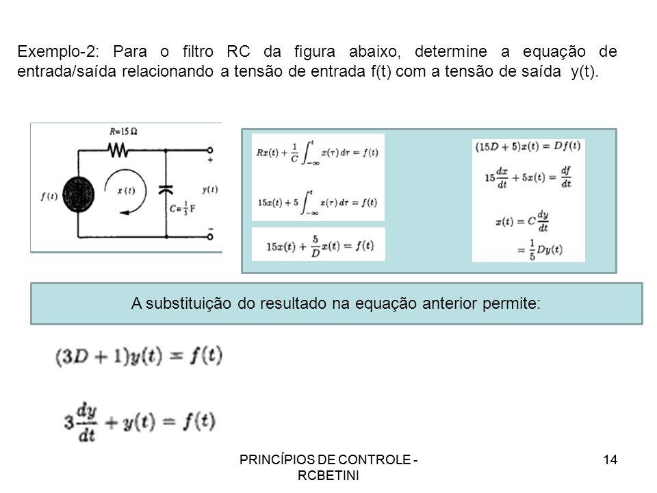 A substituição do resultado na equação anterior permite: