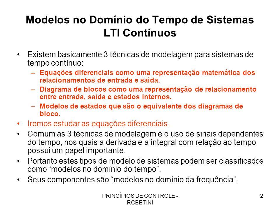 Modelos no Domínio do Tempo de Sistemas LTI Contínuos