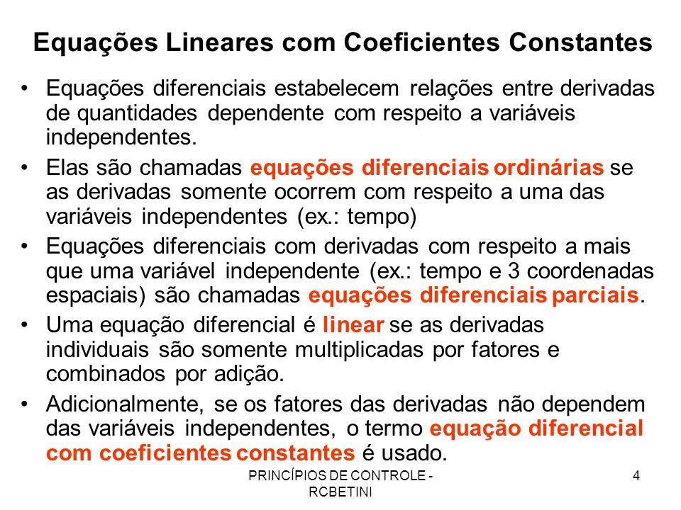 Equações Lineares com Coeficientes Constantes