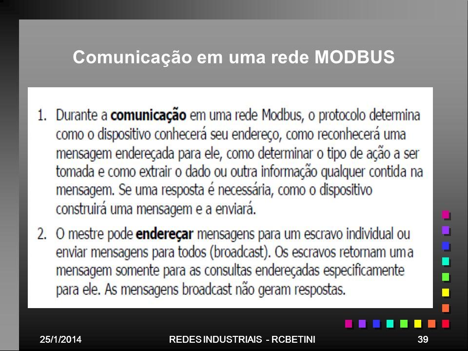 Comunicação em uma rede MODBUS