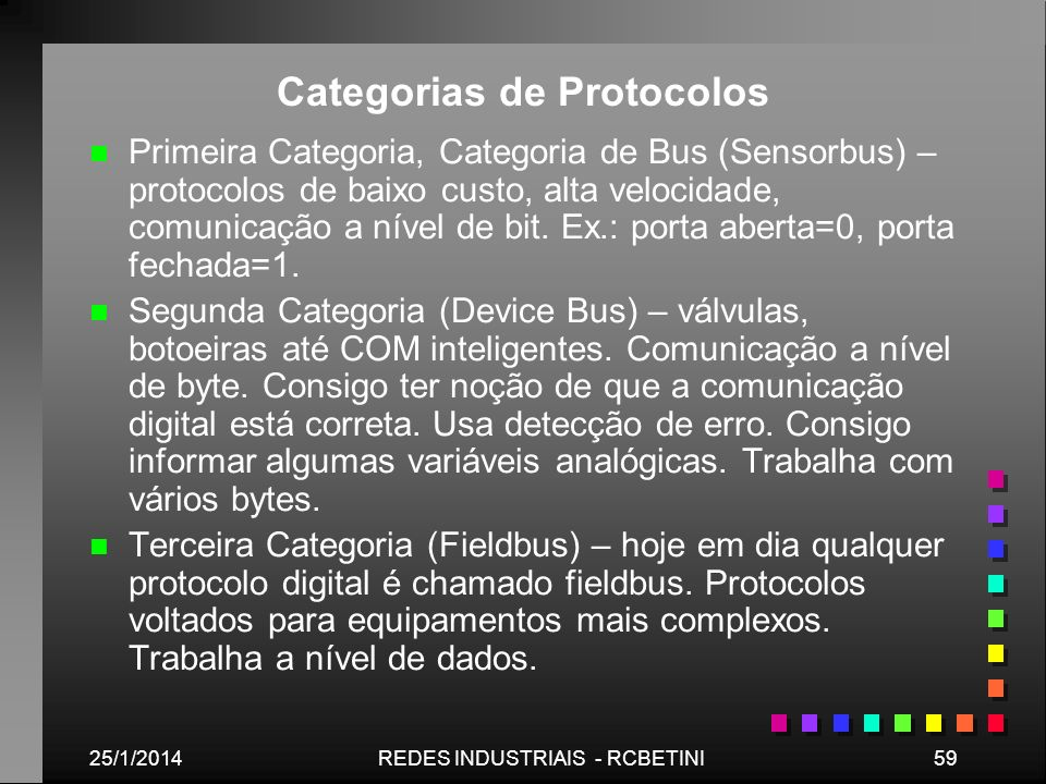 Categorias de Protocolos