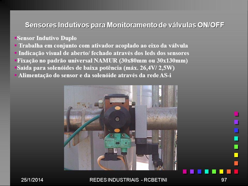 Sensores Indutivos para Monitoramento de válvulas ON/OFF