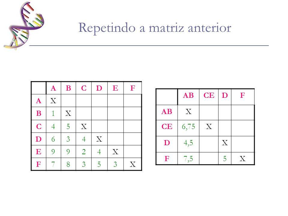 Repetindo a matriz anterior