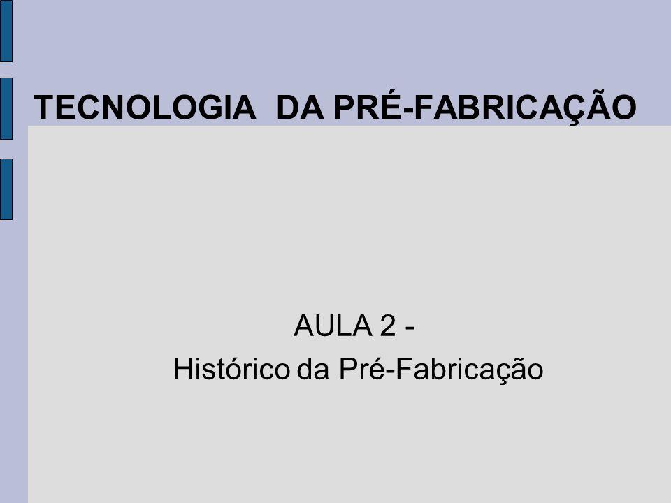 TECNOLOGIA DA PRÉ-FABRICAÇÃO