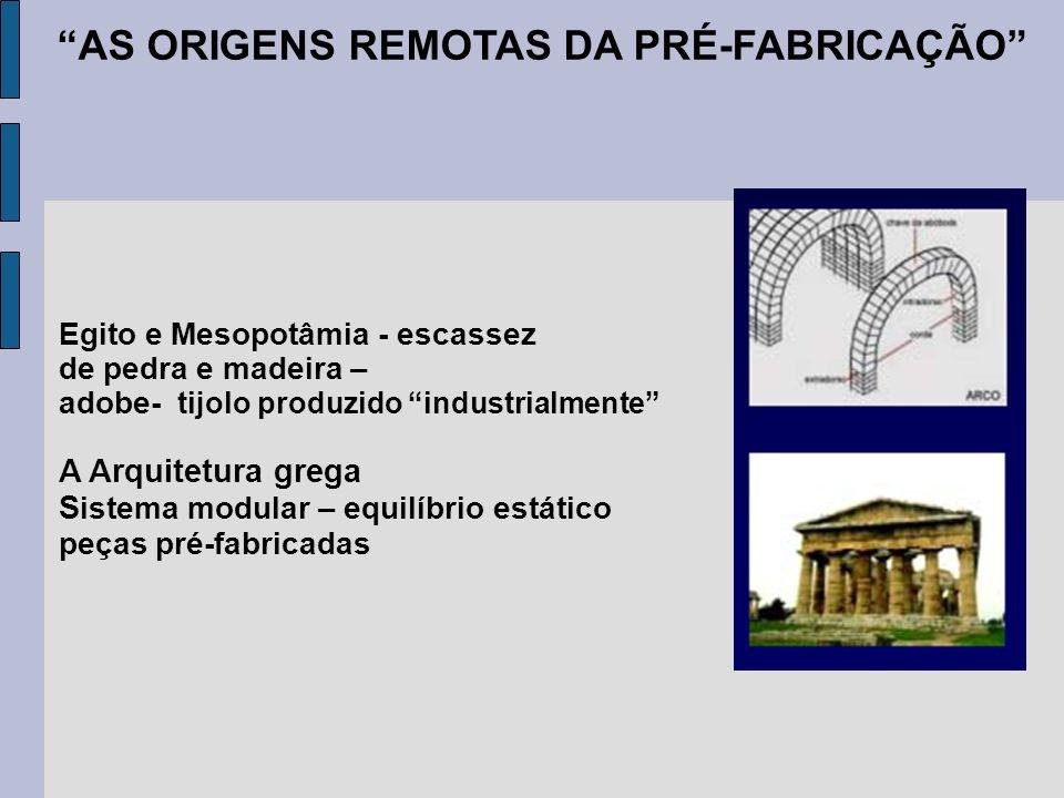 AS ORIGENS REMOTAS DA PRÉ-FABRICAÇÃO