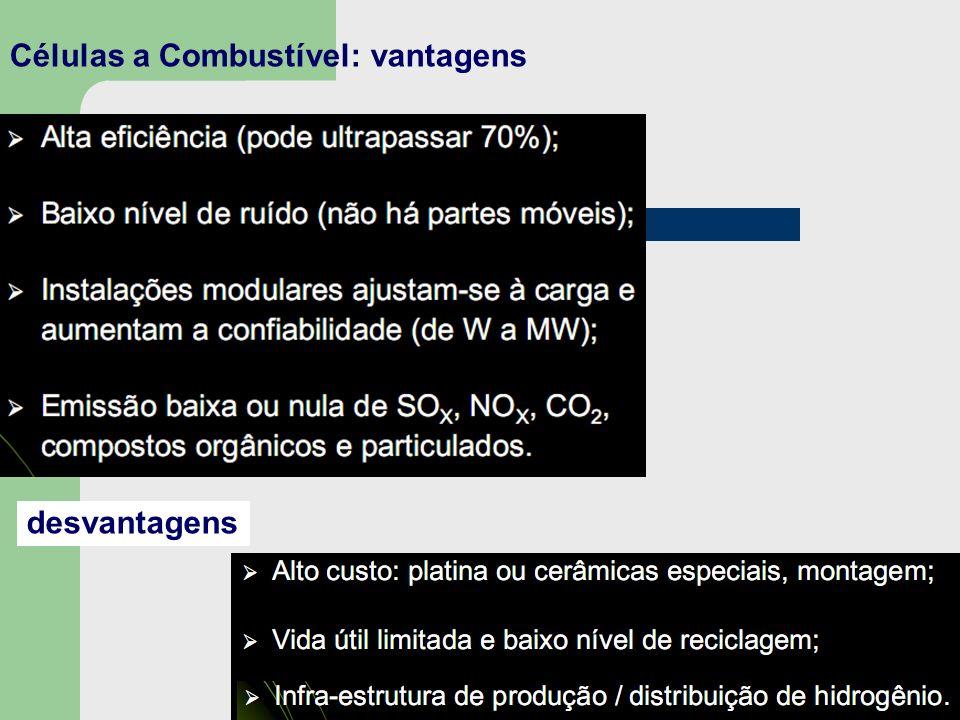 Células a Combustível: vantagens