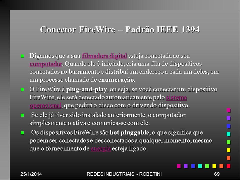 Conector FireWire – Padrão IEEE 1394