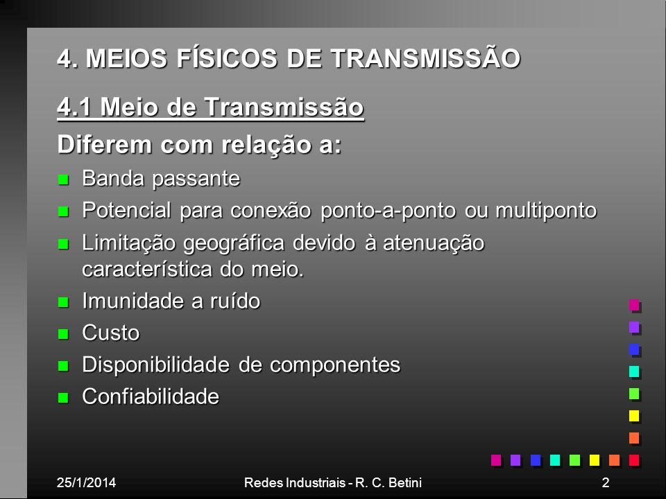 4. MEIOS FÍSICOS DE TRANSMISSÃO