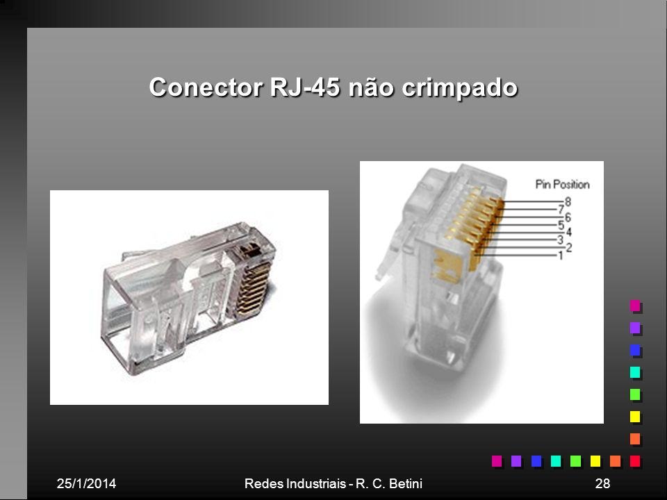 Conector RJ-45 não crimpado