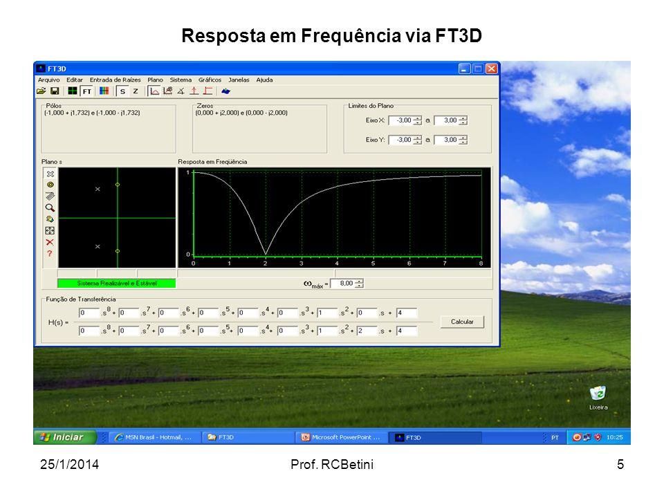Resposta em Frequência via FT3D