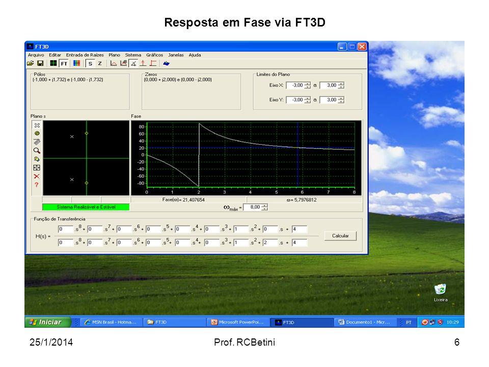 Resposta em Fase via FT3D