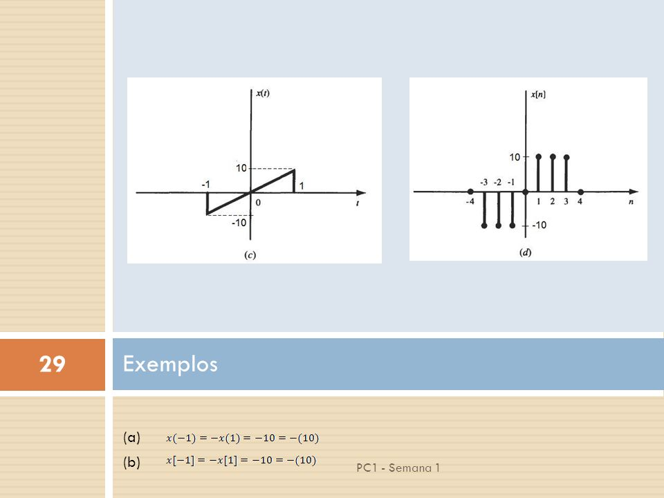 Exemplos (a) (b) PC1 - Semana 1