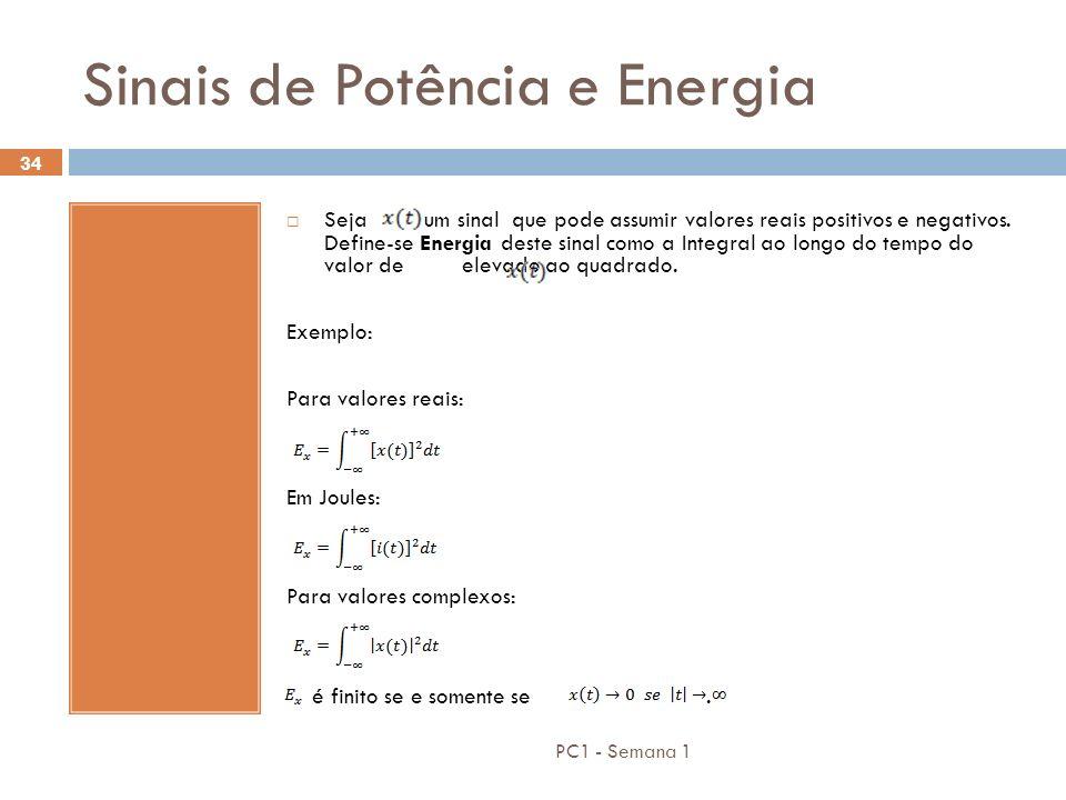 Sinais de Potência e Energia