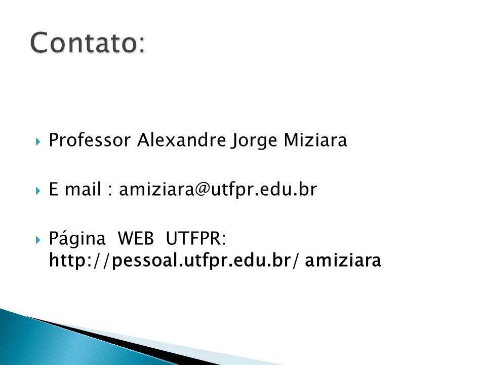 Contato: Professor Alexandre Jorge Miziara