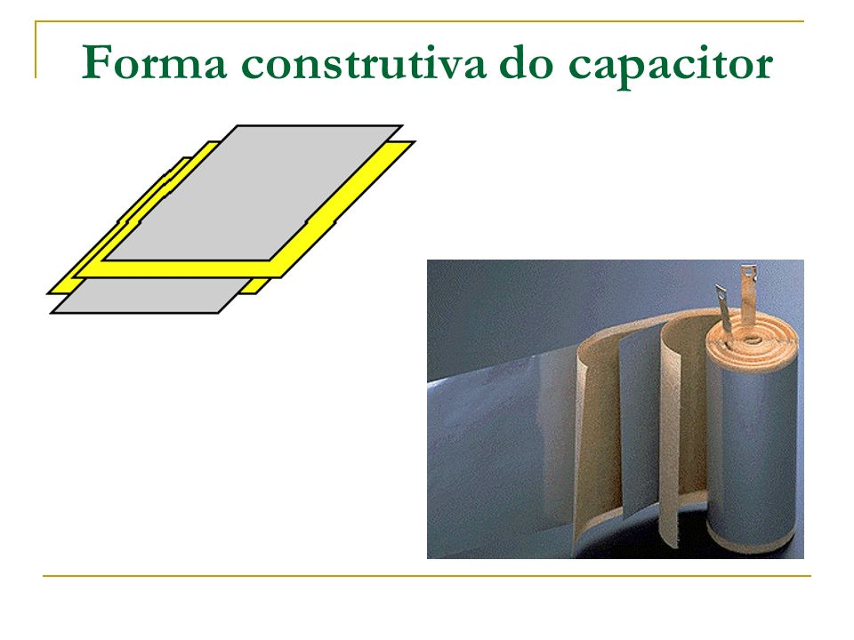 Forma construtiva do capacitor