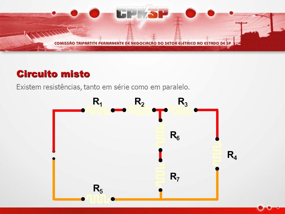 Circuito misto R1 R2 R3 R4 R5 R6 R7