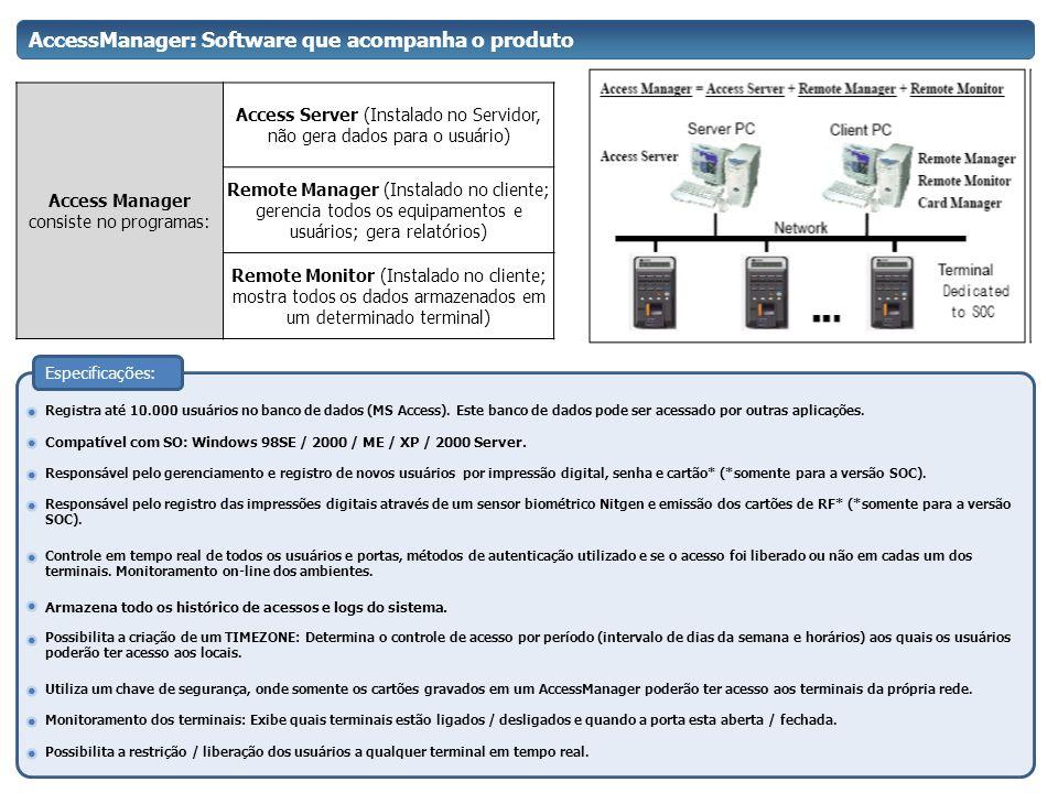 AccessManager: Software que acompanha o produto