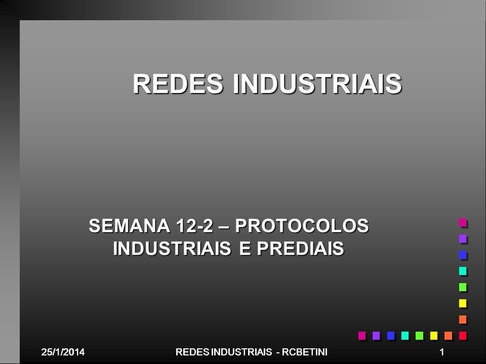 SEMANA 12-2 – PROTOCOLOS INDUSTRIAIS E PREDIAIS