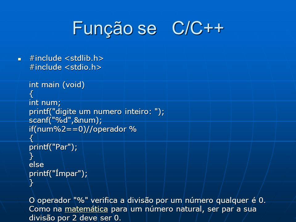 Função se C/C++