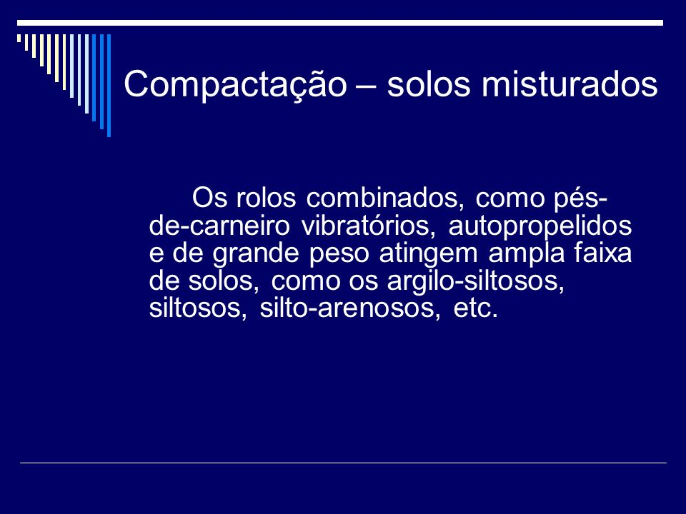 Compactação – solos misturados