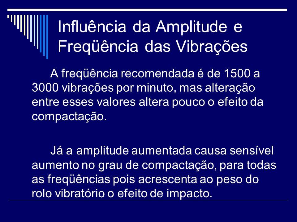 Influência da Amplitude e Freqüência das Vibrações