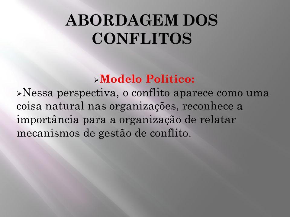 ABORDAGEM DOS CONFLITOS