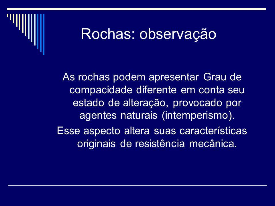 Rochas: observação
