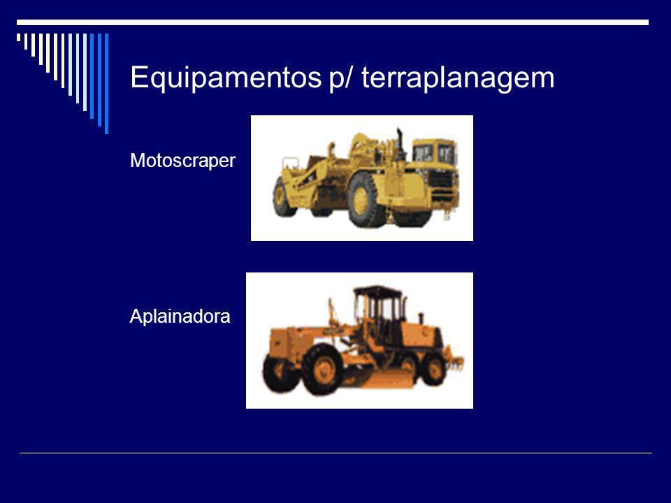 Equipamentos p/ terraplanagem