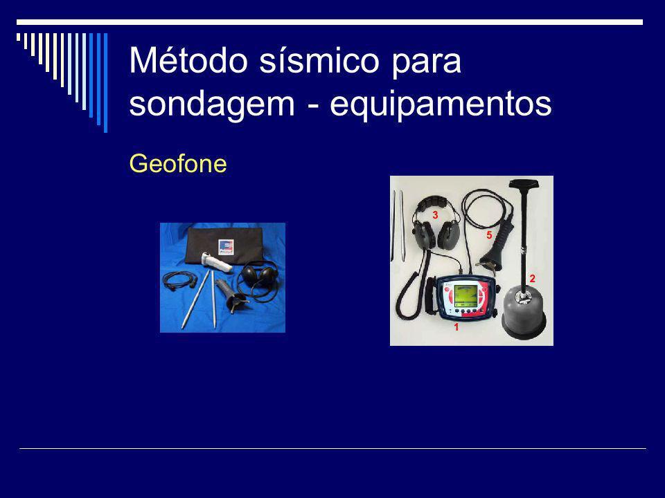 Método sísmico para sondagem - equipamentos
