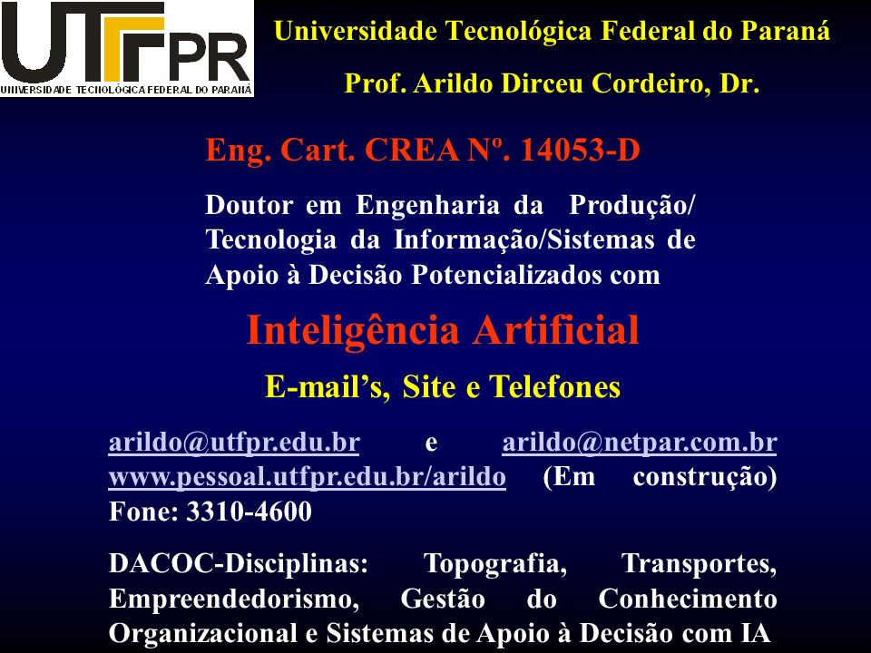 Inteligência Artificial E-mail's, Site e Telefones